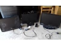 3 tvs for sale with remote controls