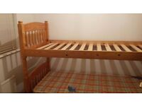 Bunks beds (or 2 singles) and mattresses - excellent condition