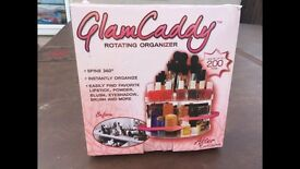 NEW VERSATILE ROTATING GLAM BEAUTY CADDY COSMETIC ORGANIZER MAKE UP BOX HOLDER RRP £30 free delivery