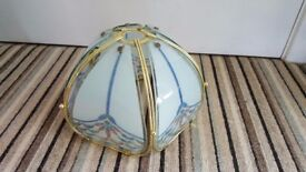 Metal and glass lamp shade