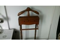 wooden valet stand in vgc
