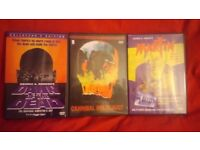 3 Classic Horror Gore DVD's Martin/Cannibal Holocaust/Dawn of the Dead - All Uncut Collector's