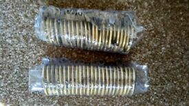 Brand New Brass Metal Curtain Rings, 1 pack of 24. Two packs available.