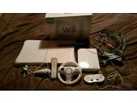 Wii console with wii fit board