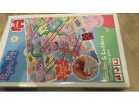 Peppa Pig Snakes & Ladders Board Game - Supersize and Colourful contents! - As New!
