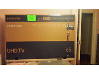 "Samsung 65"" TV box."
