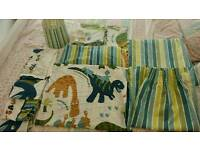 Dinosaur bedroom set - duvet cover lampshade curtains