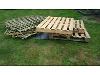 4 pallets and 6 large trellis