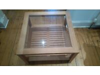Oak and glass Coffee Table and matching Side Table