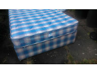 Small Double Divan Bed 4ft wide. Free Delivery. Hardly used, very clean modern . Known as a 3/4 bed