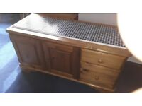Side Board,solid wood ,2 drawers + 2 doors with pull out tray