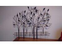 Wall art bronze colour trees