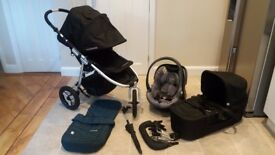 Bumbleride Indie, Carry Cot and Car seat