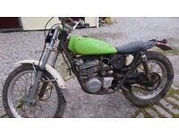 "KT 250 Kawasaki 1976 same era as Suzuki Beamish Road registered on ""P"" Plate."