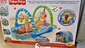 Fisher-Price Kick & Crawl Baby Gym & Aquarium Musical Baby Cot Mobile