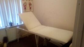 Folding White Massage Table - Nearly New and priced to sell!