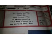 2x Billy Idol Tickets at Manchester Apollo 20.06.18