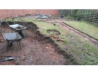 Garden digging'grass cutting & training