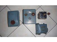 Three Phase Machine starter equipment.