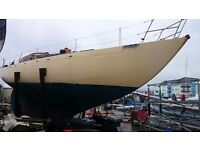 33ft CLASSIC SAILING YACHT, DIESEL,SAILS. £6500