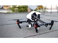 Professional filming 4k video recording from quadcopter