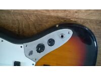 ARIA STB JB 3TS, STB Jazz Bass Guitar 3 Tone Sunburst Chip in side and missing button plymouth