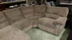 Light brown corner sofa - practically new