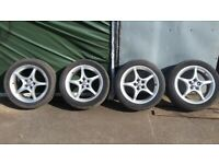 Toyota Celica 16inch alloy wheels and tyres, 5x100 £225
