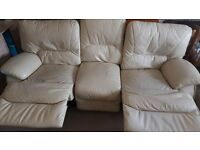 Recliner 3 seater sofa. Delivery available