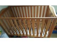 John Lewis Wooden cot bed 120 x 60