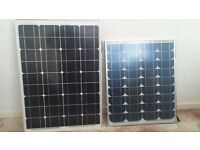 """Two solar panels in """"gul"""" strong bag"""