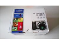 for sale,used once,all original packaging and accessories,olympus SP-620UZ digital camera,black