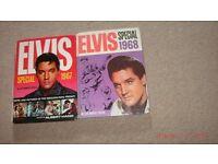 "ELVIS PRESLEY-""ELVIS SPECIAL 1967 + ELVIS SPECIAL 1968-HARDBACK ANNUALS."