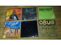 6 x vinyl LP's - metallica / vectom / obus / dam / limelight /mastodon