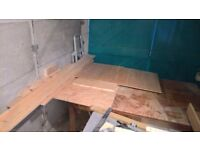 Plywood sheets, pine planks and other offcuts