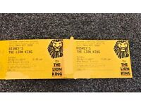 2x lion king tickets London Lyceum