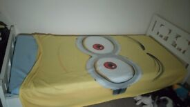 Ikea white single kids bed with matress