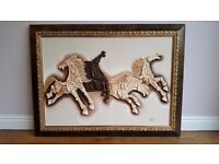 Oil Three Dimensional Horse Painting by Sas