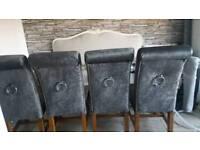4 heavy door knocker chairs