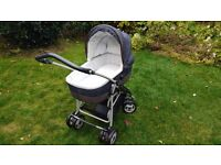 Mamas & Papas MPX Travel System with pram, car seat, cot