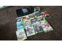 Xbox 360 Slim E model, 500gb with 13x games and wired Afterglow controller