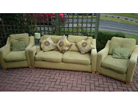 Lovely suite. 2 seater sofa & 2 armchairs - brand DFS
