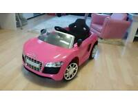Pink audi R8 spider children's
