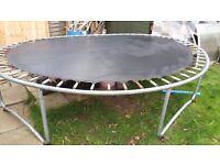 12 feet trampoline without net, £15