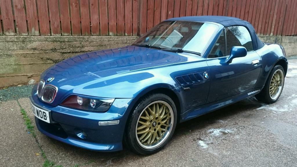 Bmw Z3 2000w 1 9 Topaz Blue With Rare Aero Kit In