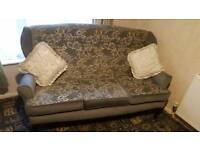 3 seat settee and chair.
