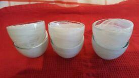 6 GLASS TEA LIGHT HOLDERS