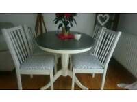 Shabby chic 5 dining chairs