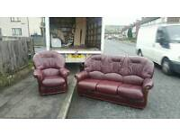 3+1 leather seater in oxblood