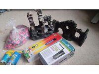 Various fish tank accessories